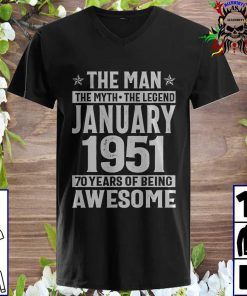 The Man The Myth The Legend January 1970 50 Years Of Being Awesome v neck