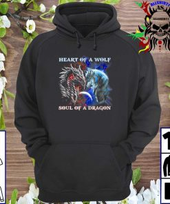 Dragon vs wolf heart of a wolf soul of a dragon hoodie