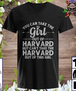 You Can Take The Girl Out Of HARVARD v neck