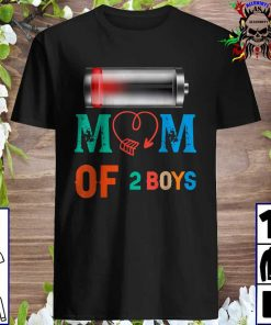 Women Mom of 2 Boys Shirt Gift from Son Mothers Day Birthday Shirt
