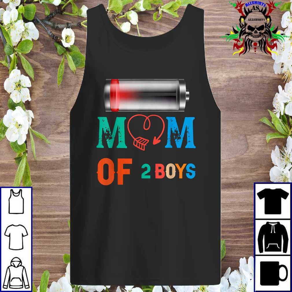 Women Mom of 2 Boys Shirt Gift from Son Mothers Day Birthday tank top