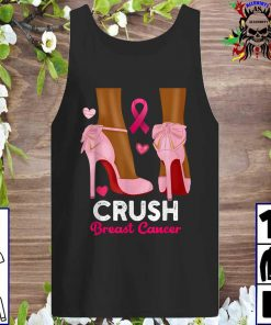 Crush Breast Cancer In October We Wear Pink Black tank top