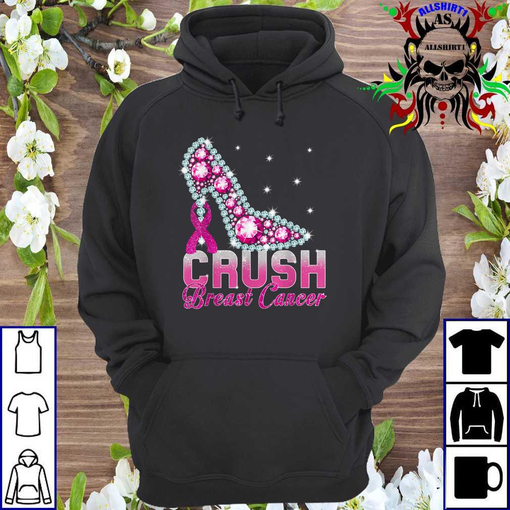 Crush Breast Cancer Pink Bling High Heels Breast Cancer hoodie