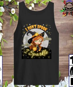 Cute Witch Halloween I Don't Spook I Sparkle Tank top