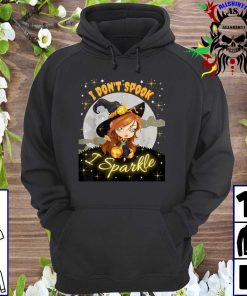 Cute Witch Halloween I Don't Spook I Sparkle hoodie